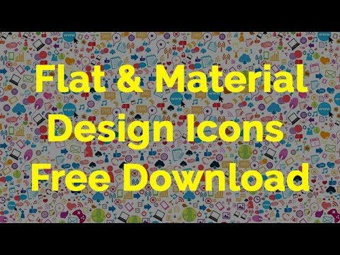 How To Free Download Flat Icons | Material Design Icons Download