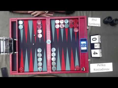 Carolina Backgammon R4 Phil Simborg v Petko Kostadinov