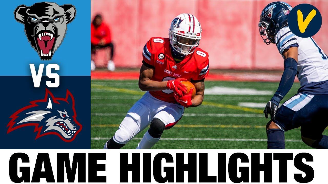 Maine vs Stony Brook Highlights | FCS 2021 Spring College Football Highlights