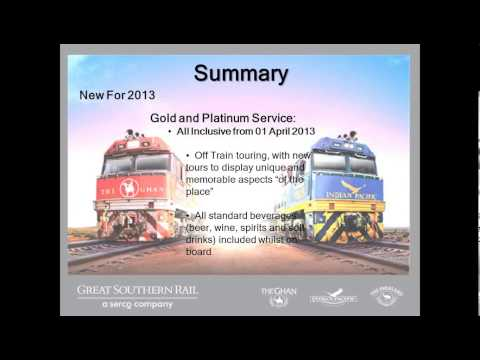 2013-01-29 Great Southern Rail - Product Update with Dave Atherton