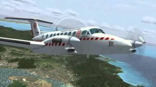 FSX HD St Maarten Princess Juliana Tower View & Air Ambulance Test Flight