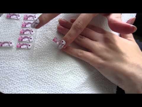 Nagelfolien Aufkleben Tutorial Fingernägel Professionell