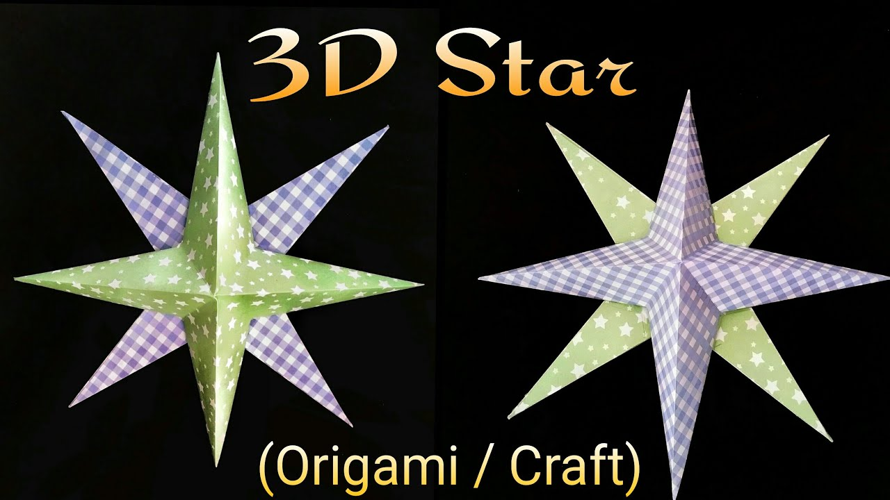 tutorial to make a paper 3d star diwali and christmas decorations youtube