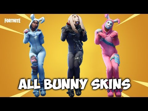 ALL Bunny Skins With Bunny Hop And RunningManv3 Emote - Fortnite
