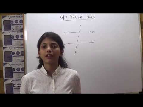 GEOMETRY STD 9(NEW SYLLABUS ) CHP 2 PARALLEL LINES(STD 9):TYPES OF ANGLES