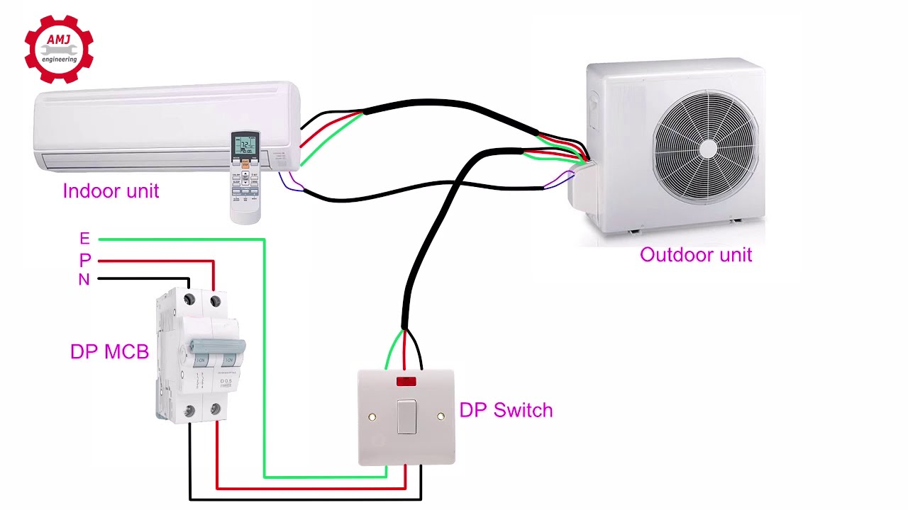 Single phase air conditioners wiring diagrams - YouTube | Split Ac Unit Wiring |  | YouTube