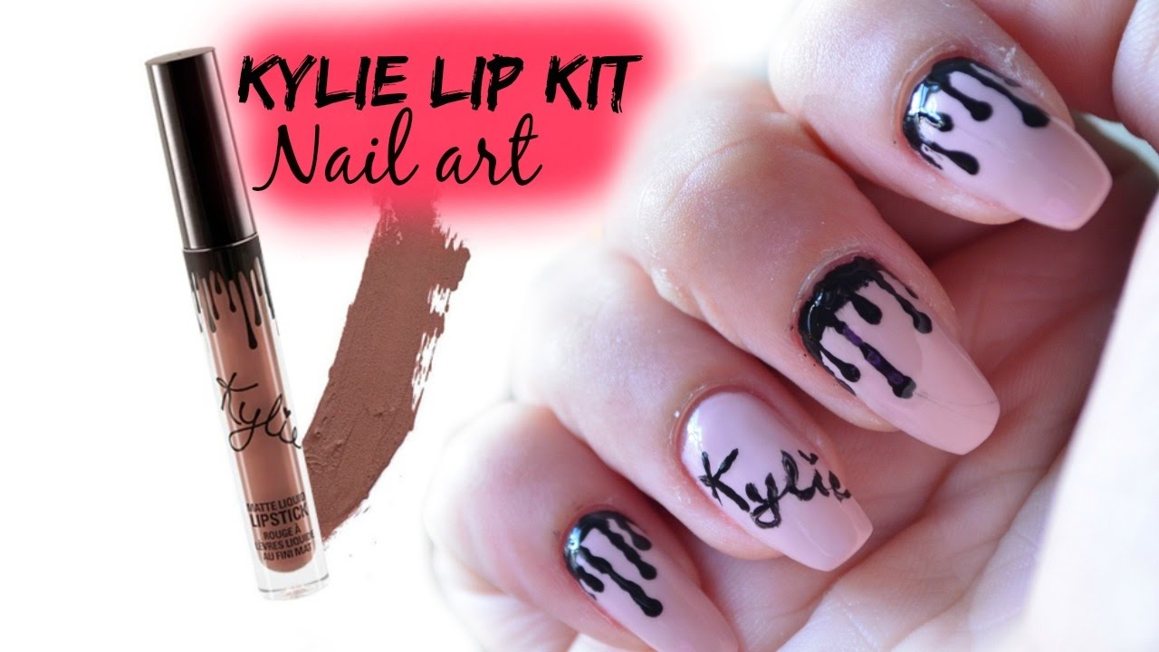 Kylie Jenner Lip kit Nail art - YouTube