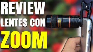 Probando Lentes con ZOOM optico 8X para el celular   Lente Telescopica    Redlemon   2018