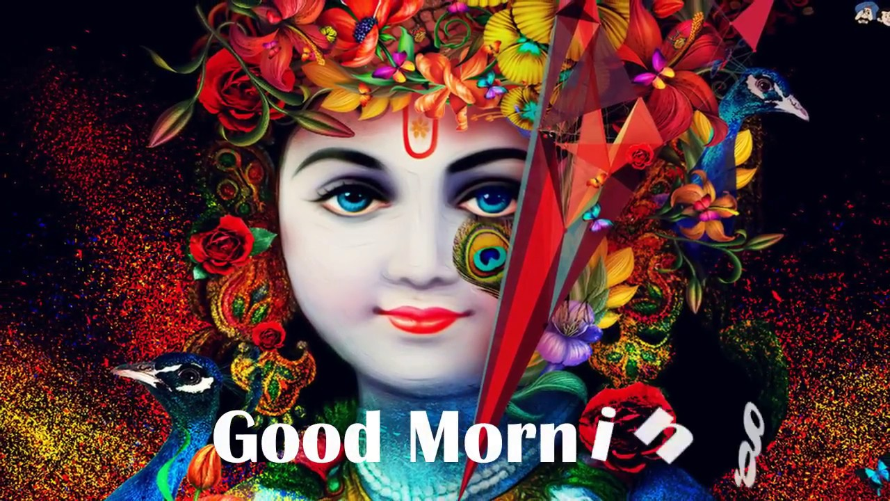 Good Morning WhatsApp status video with Lord Krishna - YouTube