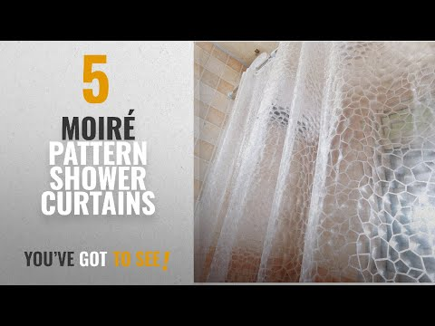 Top 10 Moiré Pattern Shower Curtains [2018]: EVA Shower Curtain - 3D Mildew Resistant Shower