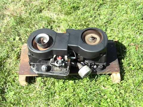 Opposed 2 crankshaft engine Running - Briggs & Stratton based