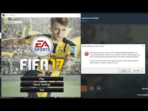 FIFA 17 Intel HD Graphics 4000 Error