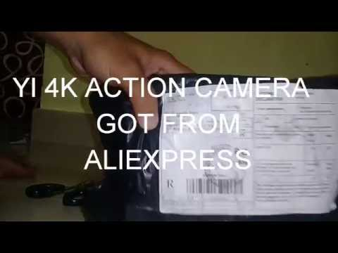 XIAOMI YI 4K ACTION CAMERA UNBOXING ROSE GOLD COLOUR. FROM ALIEXPRESS