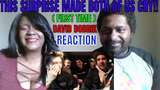 David Dobrik - THIS SURPRISE MADE BOTH OF US CRY!! (FIRST TIME) REACTION