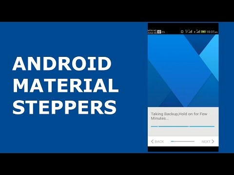 ANDROID MATERIAL STEPPERS