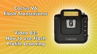 Cactus V6 - 03 - How to use Flash Profile Learning