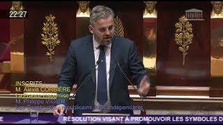 (Dis)cours énergique d'Alexis Corbière (FI) sur les symboles de l'Union européenne