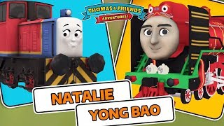 Thomas & Friends: Adventures! - New Engine Natalie vs Yong Bao The Chinese Engine !!