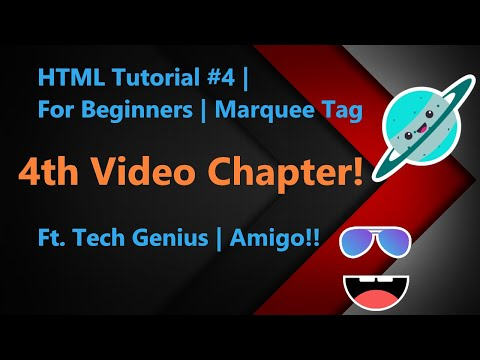 HTML Tutorial #4 For Beginners marquee tag ft Computer Genius thumbnail