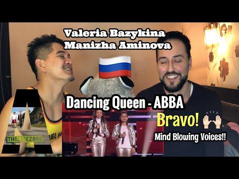 Singer Reacts Валерия Базыкина \u0026 Mанижа Аминова - Dancing Queen   ABBA   The Voce Kids Russia