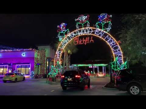 Nick Wize - Spectacular Christmas Light Display Is Up At Chic-Fil-A on Waters Avenue