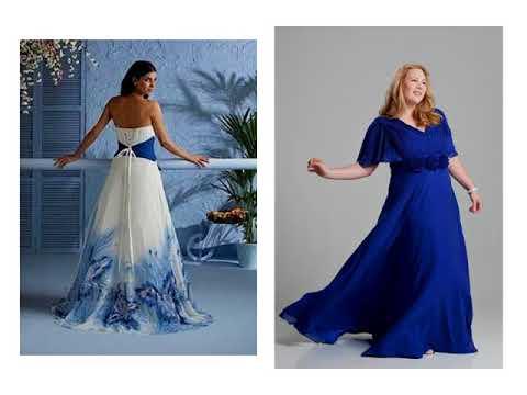 Royal Blue Wedding Dresses Plus Size - YouTube