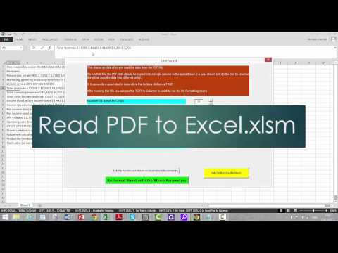 PDF to Excel Clean Up 2