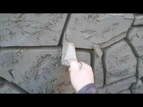 как  оформить  цоколь  дома  декоративный  камень.. мастер  коля