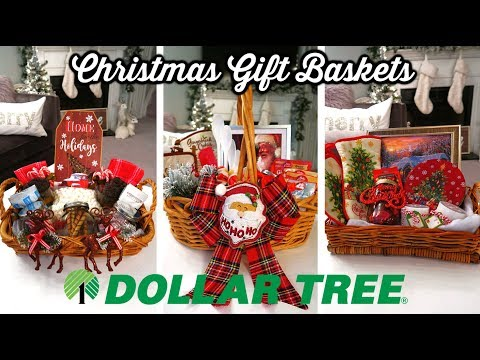 DIY DOLLAR TREE CHRISTMAS GIFT BASKETS 🎄| BUDGET CHRISTMAS G