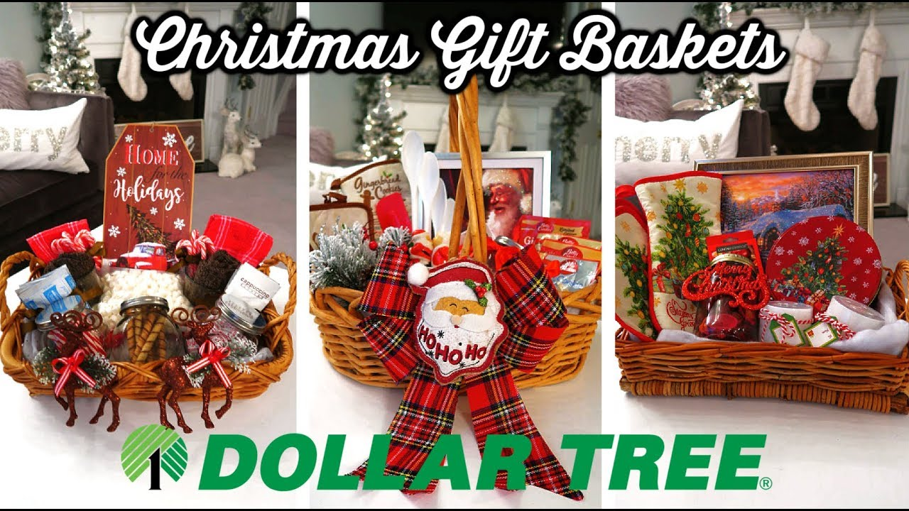 DIY DOLLAR TREE CHRISTMAS GIFT BASKETS 🎄| BUDGET CHRISTMAS ...