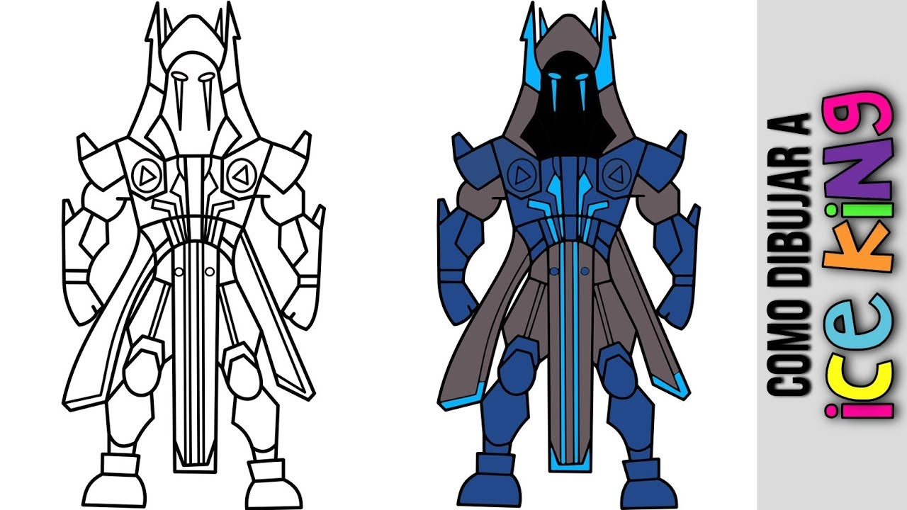 Como Dibujar A Ice King De Fortnite Como Dibujar Al Rey Helado De Fortnite How To Draw Ice King