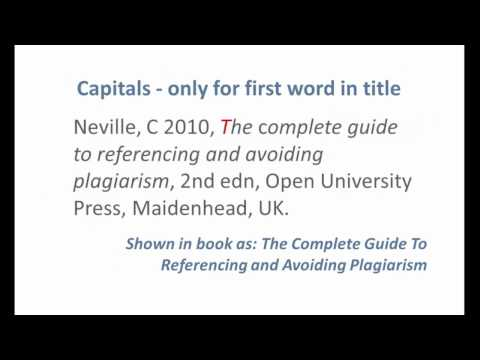 HARVARD style - Referencing a BOOK