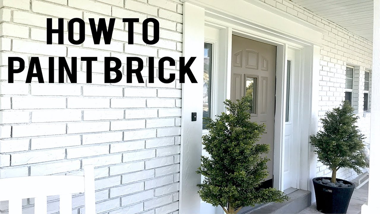 How to Paint Exterior Brick - YouTube