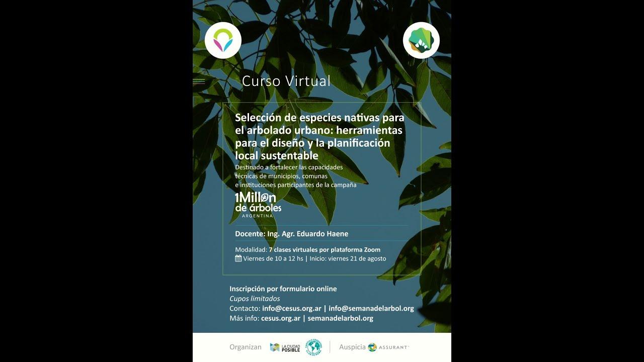 """Inició el curso """"Selección de especies nativas  para el arbolado urbano"""""""