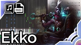 Ekko Theme - League of Legends (Synthesia Piano Tutorial)