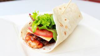BBQ Chicken And Caramelized Onion Wrap - Video Recipe