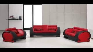 Divani Casa 2811   Modern Bonded Leather Sofa Set
