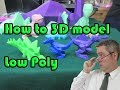 How to 3d model Low Poly in Blender