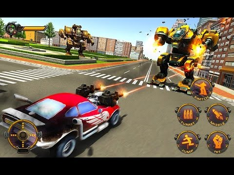 Robot Car War Transform Fight By Tech 3d Games Studios Android