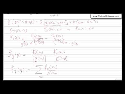 30-Functions of Continuous Random Variables-2