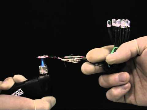 Direct Flame Fuel Cell (LEDs) Demo