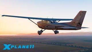 ВЕЧЕРНИЙ ПЕРЕЛЕТ ДО ОСТРОВНОГО АЭРОПОРТА! / KCMA (Camarillo) - KNSI / CESSNA 172   X-Plane 11 #2