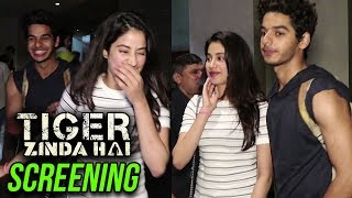 Ishaan Khatter Protects Jhanvi Kapoor From Paparazzi At Tiger Zinda Hai Screening
