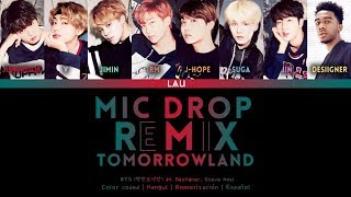 Gambar cover BTS (방탄소년단) - 'MIC DROP' ft. Desiigner & Steve Aoki (REMIX TOMORROWLAND) (Hang | Rom | Esp)