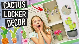 Back To School DIY Cactus Locker Decor Crafts