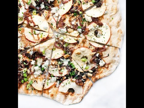 Making Caramelized Onion & Apple Grilled Pizza