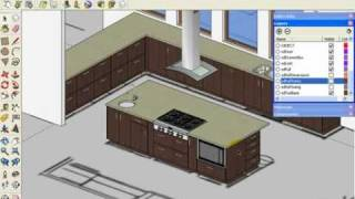 Sketchup Kitchen Design Using Dynamic Component Cabinets (part 2 Of 3)