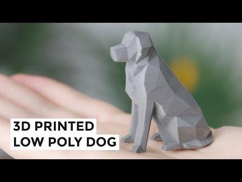 Low Poly Dog - 3D Printed Metal Mini Statue Tutorial
