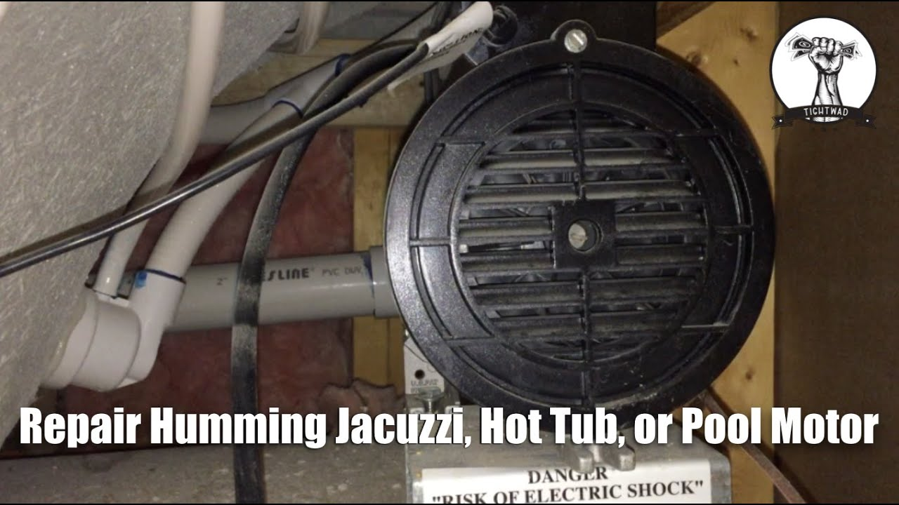 Fix jacuzzi hot tub or pool pump that only hums youtube for Jacuzzi tub pump motor