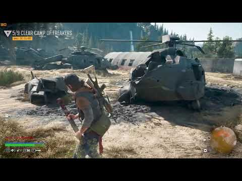 Clearing camp in Days gone #1. Days gone Zombie Game. Game play Story. Zombie apocalypse.Blackfriday |